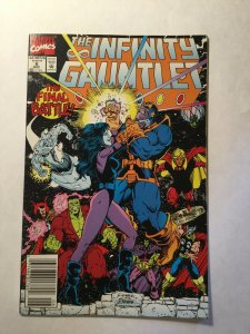 Infinity Gauntlet 6 Near Mint Nm Newsstand Edition Marvel