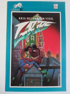 Grips #1 (Silverwolf 1986) Crazed Vigilante Comics! Signed by Tim Vigil