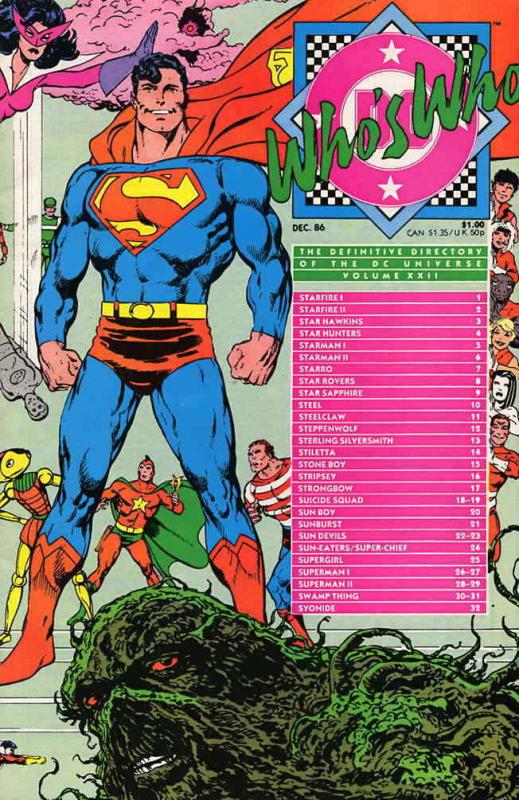Who's Who: The Definitive Directory of the DC Universe #22 FN; DC | save on ship
