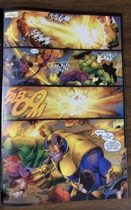 Avengers Assemble 4 Pg. 6 Original Art Mark Bagley Thanos Iron Man Thor Hulk Cap