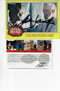 1977 Topps Star Wars  #157 - Signed by Mark Hamill