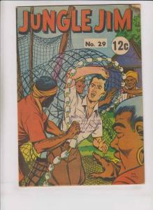 Jungle Jim #29 GD+ page comics - silver star - popeye in thimble theatre backup