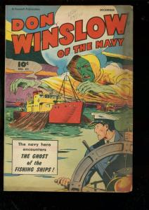 DON WINSLOW OF THE NAVY #52-1947-FAWCETT-GHOST ISSUE VG