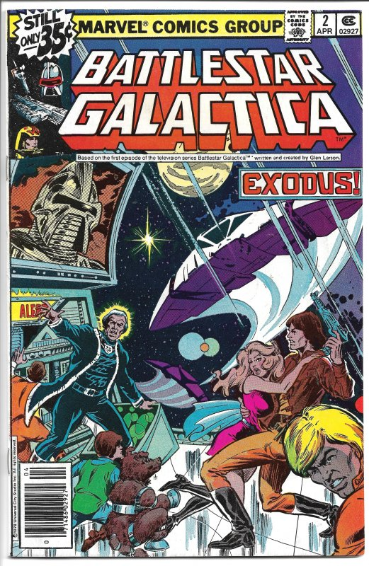 Battlestar Galactica #2 - Bronze Age -  April, 1979 (VF+)