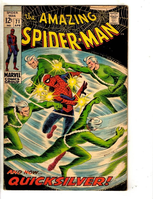 Amazing Spider-Man # 71 VG/FN Marvel Comic Book Goblin Silver Age Stan Lee JG9