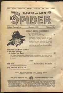 Spider 10/1941-popular-Satan's Seven Horsemen-hero pulp-P