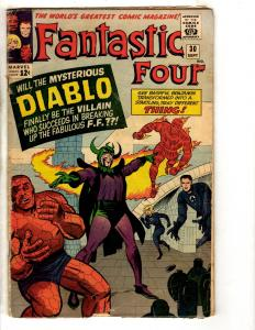 Fantastic Four # 30 VG- Marvel Comic Book Thing Dr. Doom Human Torch X-Men FH2