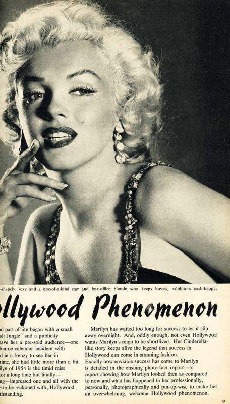 Movieland's 1954 Annual Magazine  Marilyn Monroe on Cover  Hollywood Cel...