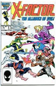 X-FACTOR #5, VF+, Mutants, Apocalypse, 1986, more Marvel in store, Rubinstein