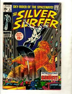 Silver Surfer # 8 FN/VF Marvel Comic Book Avengers Fantastic Four Galactus GK1