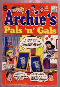 ARCHIE'S PALS AND GALS #6 1957 GIANT SIZE EARLY ISSUE- FN-
