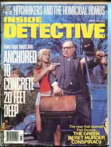 INSIDE  DETECTIVE-MARCH 1981-BARGAIN-SPICY-MURDER-RAPE-ORGIES-KIDNAP FR/G