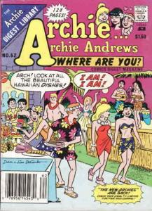 Archie…Archie Andrews, Where Are You? Digest Magazine #62 VF/NM; Archie | save o