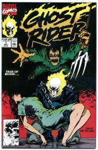 GHOST RIDER #7, NM+, Johnny Blaze,  ScareCrow, Blackout, Mark Texeira,1990