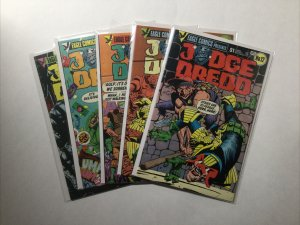 Judge Dredd 12 13 14 15 16 Lot Run Set Near Mint- 9.2 Eagle Comics