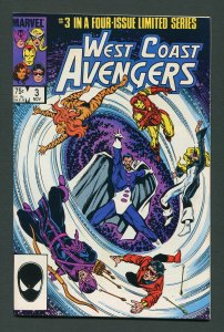 West Coast Avengers #3 (1984 Mini Series) / 9.4 NM   November 1984