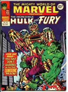 Mighty World of Marvel #265 1978-Marvel-Hulk-Sgt Fury-Capt Marvel-VG+