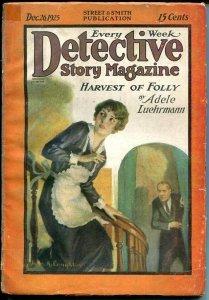DETECTIVE STORY MAGAZINE-DEC 26 1925-BUCHANAN-LUEHRMANN-good/vg G/VG