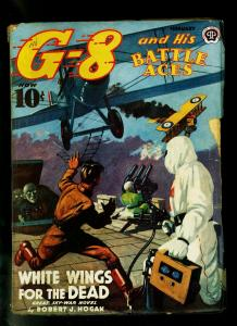 G-8 and His Battle Aces Feb 1940- Popular Pulp- Great cover- VG+
