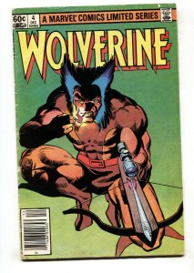 Wolverine Limited Series #4 Marvel comic book 1982 g/vg