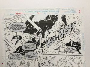 Venom Along Came A Spider Original Art Pg 6 1/2 Splash Joe St. Pierre Spider-man