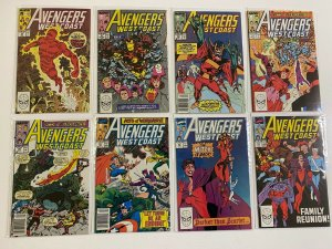 Avengers West Coast lot #50-102 Marvel 50 different books 6.0 FN (1989 to 1991)