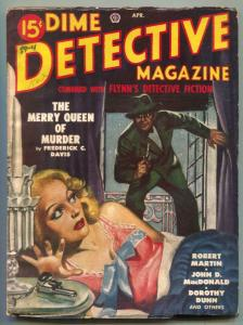 Dime Detective Pulp April 1949- Merry Queen of Murder VG