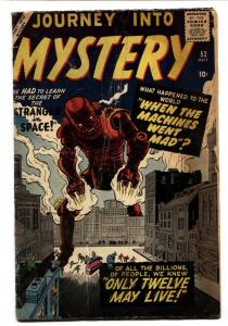 JOURNEY INTO MYSTERY #53 VG- 1959 Atlas Kirby and Ditko robot cover
