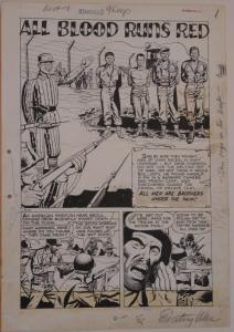 JOHN CELARDO original art, EXCITING WAR #5, pgs 1 2 3 4 5 6 7, 1952, Korean War