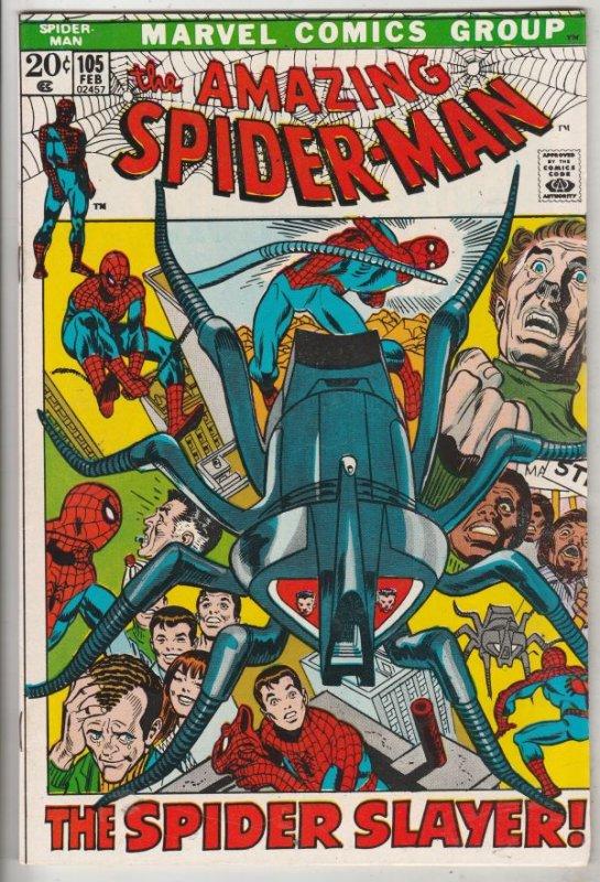 Amazing Spider-Man #105 (Feb-72) VF+ High-Grade Spider-Man