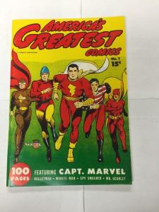 Special Edition Reprints Flashback Comics 25 America's Greatest 1 Very Fine Vf 8