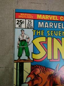 Marvel Spotlight Vol. 1 #25 (1975) Marvel 7th Voyage Of Sinbad Unread copy