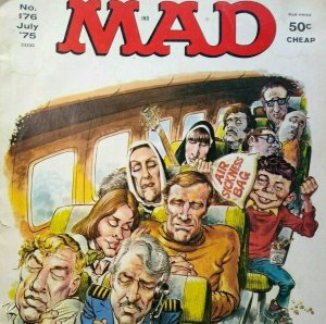 MAD Magazine July 1975 No 176 Airport Movie Fun Parody Humor Comic Satire Humor