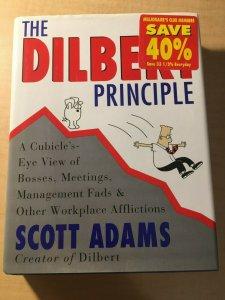 The Dilbert Principle by Scott Adams HARDCOVER Book Office Humor Parody MFT2