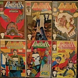 PUNISHER VOL.1 (MARVEL)#59,60,62,64,70,71 6 BOOK LOT ALL UNREAD NM CONDITION