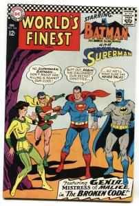 WORLD'S FINEST #164 comic book 1967-BATMAN SUPERMAN VF+