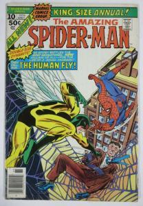 AMAZING SPIDER-MAN ANNUAL #10 (Marvel, 12/1976) (VG) Human Fly! Wein/Mantlo