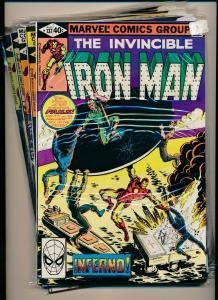 MARVEL SET of 5- IRON MAN #137-141 1980  VERY FINE (PF714)