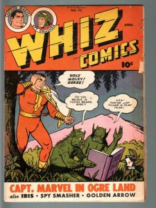 WHIZ COMICS #73-1946-OGRE COVER-CAPTAIN MARVEL-GOLDEN AGE-VG VG