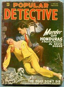 Popular Detective Pulp June 1949- David Doge- Bruno Fischer VG-
