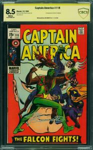 Captain America #118 (Marvel, 1969) CBCS 8.5 Joe Sinnott Sig