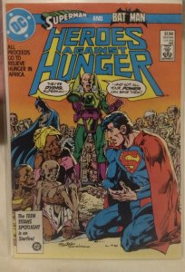 Heroes Against Hunger #1 NM featuring Superman and Batman