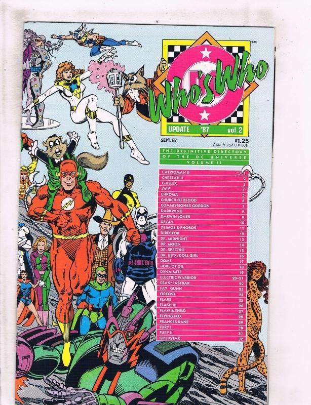 Lot of 5 Who's Who DC Comic Books #1 2 3 4 5 TW42 / HipComic