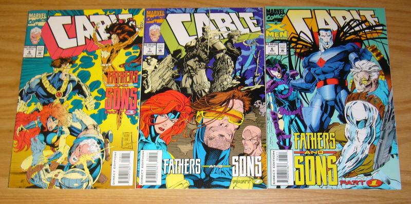 Cable: Fathers and Sons #1-3 VF/NM complete story - cable learns who his dad is