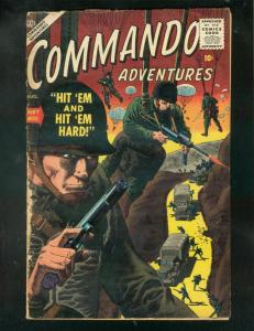 COMMANDO ADVENTURES #2 1957-PARACHUTE COVER-SEVERIN-WAR-good G