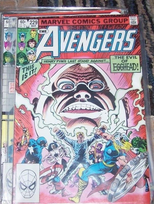 Avengers # 229 (Mar 1983, Marvel) HENRY PYM LAST STAND EGGHEAD +SHE HULK THOR