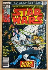 STAR WARS #15 (Marvel,9/1978) VG+ (VERY GOOD PLUS) Han Solo vs. Crimson Jack