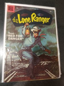 LONE RANGER #107 DELL comics 1957 TONTO SILVER AGE WESTERN PAINTED COVER