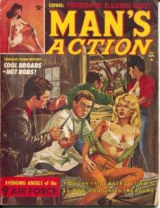 Man's Action 8/1962-Candor Pubs-spicy woman-cheesecake pix-pulp thrills-VG-