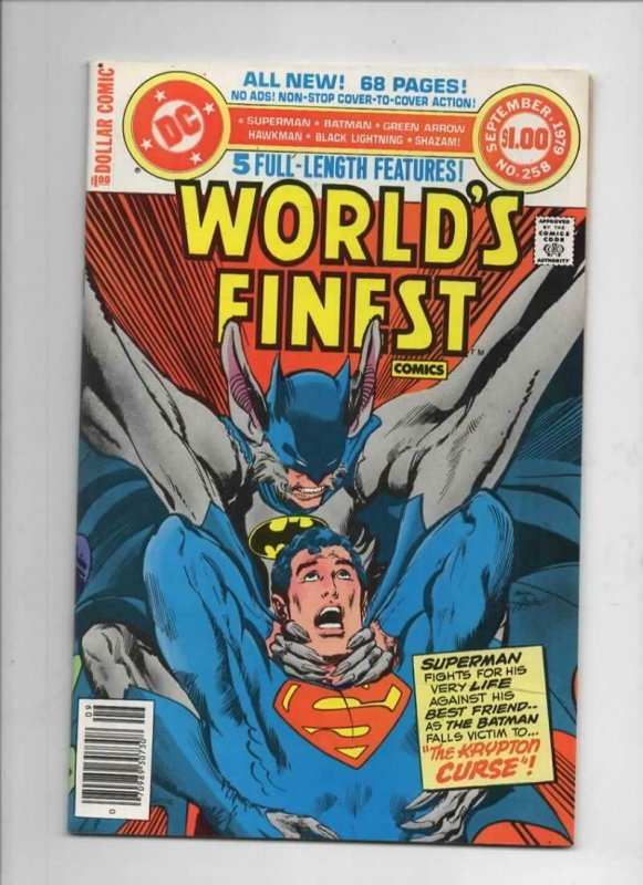 WORLD'S FINEST #258, VF, Batman, Superman, Neal Adams, 1941 1979, more in store